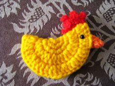 Little crochet chicken made by me