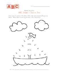 лодка АВС точки к точке