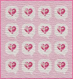Windham Fabrics Love Pink Rosemarie Lavin I Heart You Quilt Kit | Quilt Kit Windham Fabrics, Quilt Kits, Quilt Top, Quilt Patterns, My Heart, Quilts, Blanket, Pink, Blankets