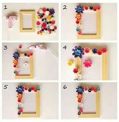 Kid S Craft Project Puzzle Picture Frame Art Craft Ideas Kids