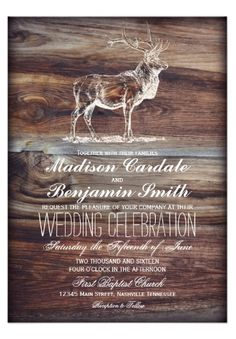 Country Wedding Cakes Rustic Wood Elk Wildlife Wedding Invitations for a country hunting theme wedding or wildlife wedding. OFF when you order 100 Invites. Country Wedding Cakes, Wedding Cake Rustic, Cool Wedding Cakes, Cowgirl Wedding, Camo Wedding, Country Weddings, Vintage Weddings, Wedding Vintage, Lace Weddings