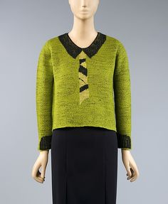 Sweater (image 1) | House of Schiaparelli | French | 1930s | wool | Metropolitan Museum of Art | Accession Number: C.I.41.112.1
