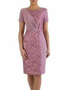 Women& dress Michalina III, formal wear with a slim .- Sukienka damska Michalina III, wizytowa kreacja w wyszczuplającym fasonie. Simple Dresses, Elegant Dresses, Nice Dresses, Casual Dresses, Short Dresses, Dress Brukat, Dress Outfits, Lace Dress, Fashion Outfits
