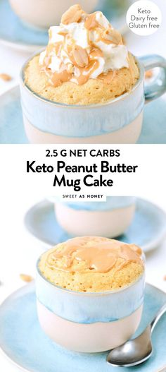 A chocolate and peanut butter flavored mug cake studded with chocolate chips. This mug cake is flourless, gluten free, low carb and keto friendly. Keto Friendly Desserts, Low Carb Desserts, Low Carb Recipes, Healthy Microwave Recipes, Healthy Recipes, Peanut Butter Mug Cakes, Low Carb Peanut Butter, Mug Recipes, Dessert Recipes