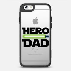 Hero Dad - New Standard iPhone 6/6S #Protective Case in Black and Clear by @latelierdemagie #phonecase #FathersDay | @casetfiy