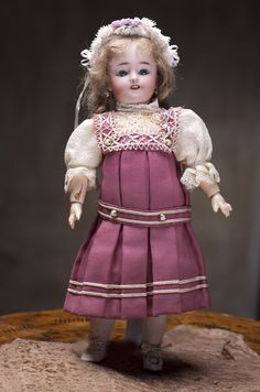 """12"""" (32 cm) Antique Lovely German Bisque Child Doll by Carl Hartmann, from respectfulbear on Ruby Lane"""