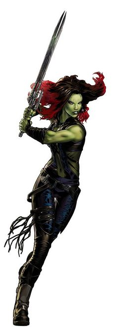 Marvel: Avengers Alliance: Gamora from the Guardians of the Galaxy New Uniform