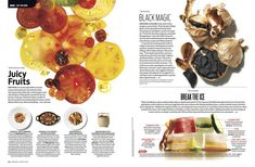 food magazines spread - Google Search