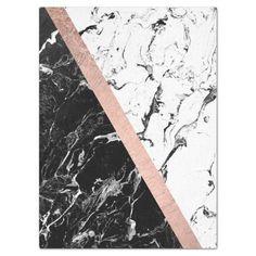 Ouro cor-de-rosa do bloco de mármore branco preto. papel Mármore Branco, preto e rose gold Imagens para customizações de caderno e agendas//Diy
