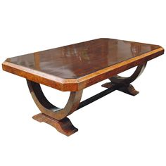 Early 20th c. French Colonial Art Deco Dining Table on DECASO.com