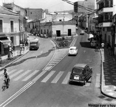 C/ Postigos salida y C/ Alta entrada, en el Barrio de El Molinillo. Málaga, Andalucía.