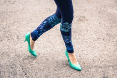 Hey, I found this really awesome Etsy listing at https://www.etsy.com/listing/165043314/emerald-city-navy-blue-leggings-with