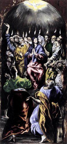 Pentecost, 1596 El Greco (Domenikos Theotokopoulos)