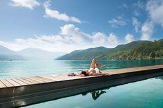A Carinthian summerday, Austria Hotels, Outdoor Furniture, Outdoor Decor, Wonderful Places, Austria, Hammock, Trail, Boat, Life