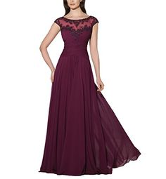 Vivebridal Women'S Chiffon Scoop Cap Sleeve Long Mother Formal Dress Wine 14 Vivebridal http://www.amazon.com/dp/B0126UQPWI/ref=cm_sw_r_pi_dp_N8ZSvb08CTTMX