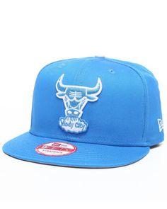 New Era   Chicago Bulls Leather Strapper Adjustable Hat