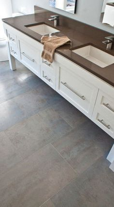 potential grey multi-toned tile for bathroom, dressing area and walk-in closet