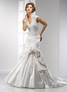 """Sottero & Midgley """"Chantilly"""" A beautiful combination of lace and satin, with a modern look."""
