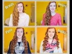 ❀ 4 OVERNIGHT NO HEAT CURL METHODS ❀ THE SOCK METHOD....omg the retro styles i could do with that  min mark 5:40