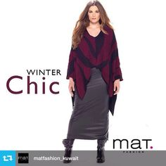 #Repost from @matfashion_kuwait • Outfit of the day: #Christmas inspiration! Rock the winter chic look.