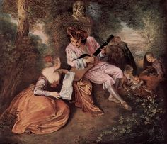 Jean-Antoine Watteau (French Rococo Era Painter, – La gamme d'amour Rococo Painting, Jean Antoine Watteau, Astrud Gilberto, Jean Honore Fragonard, The National, National Gallery, French Rococo, Painted Cottage, Art Database
