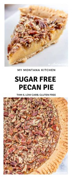 This may be worth trying! This Sugar Free Pecan Pie uses a low carb condensed milk to replace the traditional corn syrup used in pecan pie. This Low Carb Pecan Pie also works great as a Trim Healthy Mama S Dessert Recipe. Sugar Free Pecan Pie, Gluten Free Pecan Pie, Sugar Free Baking, Less Sugar Pecan Pie Recipe, Paleo Pecan Pie, Sugar Free Brownies, Sugar Pie, Sugar Free Deserts, Sugar Free Sweets