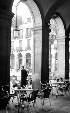 Having a coffe in a Cafe on St Mark's Piazza, Venice,