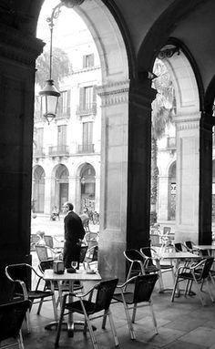 A Cafe on St Mark's Piazza, Venice.