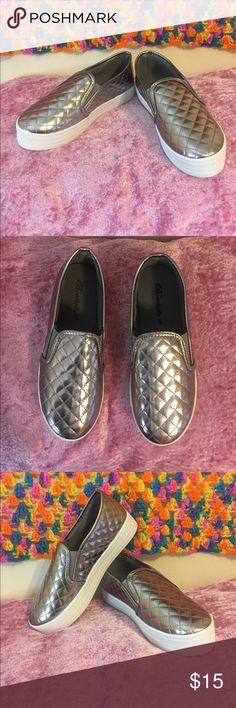 Gun color platform slip-on Platform slip-on / Flats / Size U.S 7.5 Breckelles Shoes Flats & Loafers