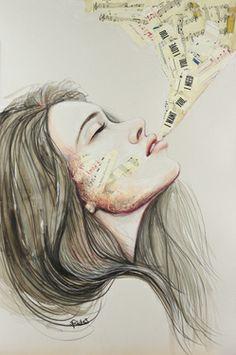 "Saatchi Art Artist Sara Riches; Drawing, ""I Want You"" #art"