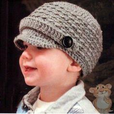 Mis Pasatiempos Amo el Crochet  Tutorial   Gorro con vicera para niños  Sombrero Tejido A b54e7e214dc