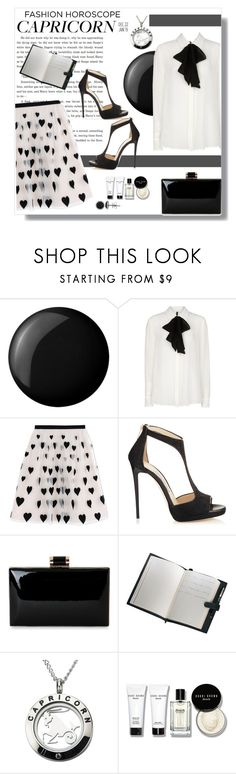 """Capricorn"" by polybaby ❤ liked on Polyvore featuring Essie, MANGO, Alice + Olivia, Jimmy Choo, Royce Leather, Bobbi Brown Cosmetics, fashionhoroscope and stylehoroscope"