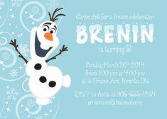 Olaf Birthday Invitation Frozen Party by SugarPickleParty on Etsy, $16.75