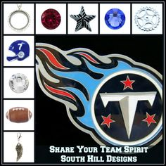 #football, #lockets, #titans www.southhilldesigns.com/charm-girl