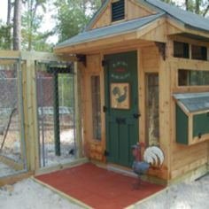 One of two chicken coops