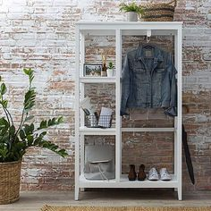 Products Lynton Compact White Open Wardrobe Various Types Of Flooring For Homes Floors are usually t Alcove Wardrobe, Open Wardrobe, Wardrobe Storage, Compact Furniture, Wardrobe Furniture, Types Of Wood Flooring, Natural Wood Flooring, Carpet Padding, Living Room Flooring