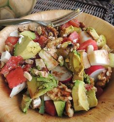 Detox Lover's Chopped Salad - Powered by Vegetarian Stew, Seasonal Food, Chopped Salad, Salad Ingredients, Good Fats, Arugula, Eating Plans, Coriander, How To Stay Healthy