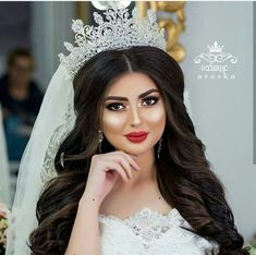 Bride Makeup, Wedding Hair And Makeup, Hair Makeup, Bridal Hair Buns, Pakistani Wedding Outfits, Romantic Wedding Hair, Quinceanera Hairstyles, Princess Wedding Dresses, Beautiful Long Hair