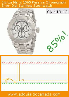 Invicta Men's 1565 Reserve Chronograph Silver Dial Stainless Steel Watch (Watch). Drop 85%! Current price C$ 419.13, the previous price was C$ 2,862.92. http://www.adquisitiocanada.com/invicta/invicta-mens-1565-reserve