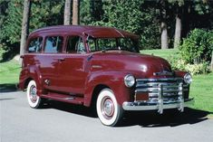 1947 Chevrolet Carryall (maroon) ~ Photo submitted by Rick Feibusch, 2010