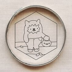 Trick-or-Treating Werewolf, free embroidery pattern designed by Mollie Johanson | wild olive