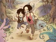 One piece- Luffy&Ace
