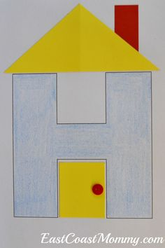 "This website has fantastic crafts and activities for the letter H... including this adorable ""H is for House"" craft."