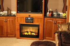 A Beautiful Installation Of A Dimplex 25 Electric Fireplace Insert In An Rv Freestanding Fireplace Simple Fireplace Fireplace Remodel