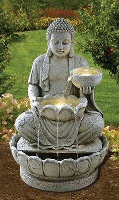 Cascade et fontaine de jardin 69 d co pour les moments de relaxe fontaines de - Bouddha deco interieur ...