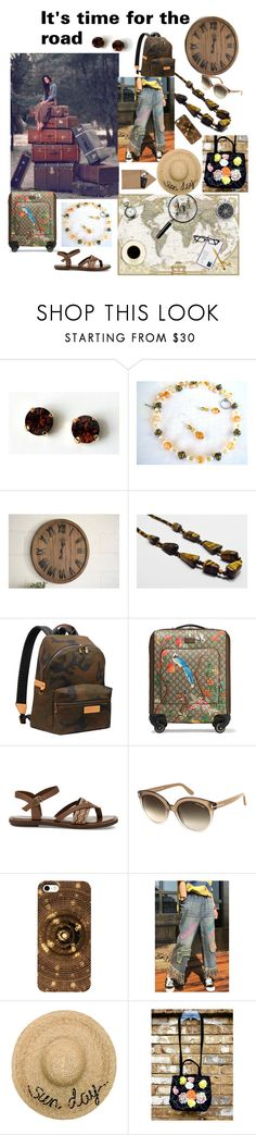 """""""It's time for the road"""" by varivodamar ❤ liked on Polyvore featuring Louis Vuitton, Gucci, TOMS, Tom Ford, WithChic, Eugenia Kim, STOW and modern"""