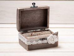 Ring Box Wedding Ring Holder Ring Pillow by InesesWeddingGallery