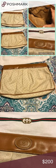 Vintage Gucci clutch Vintage Gucci clutch in great condition. Check out photos for more details.   Thank you for looking at my post be sure to check out my closet. Follow me so you can keep updated with all my good deals.   Bundle your likes & I will send you a private offer. Click ADD TO BUNDLE on each item you like from my closet, I will send an exclusive offer with no obligation to buy.   I accept reasonable offers I'm a fast shipper. I look forward to doing business with you. Happy…