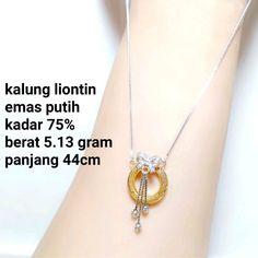 Beli kalung wanita emas putih kadar 75 set liontin dari toko emas jfaf tokoemasjfaf - Jakarta Utara hanya di Bukalapak Jakarta, Pendant Necklace, Pendants, Jewelry, Fashion, Jewellery Making, Jewlery, Jewelery, Fashion Styles