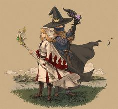 White mage & Black mage. I love this so much.